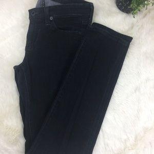 {AG} The Stilt Cigarette Black Jeans